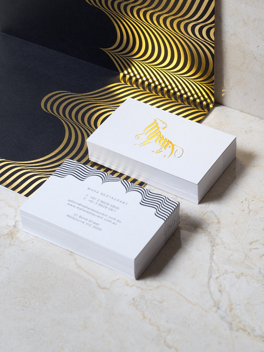 Maha Business Cards and Menu