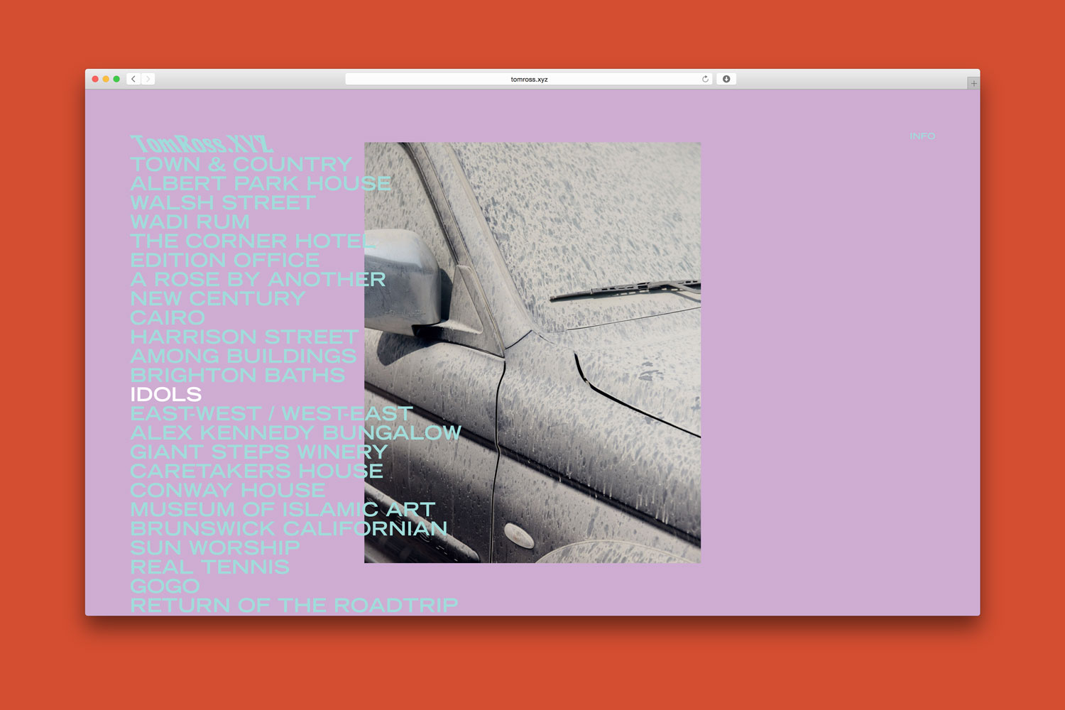 TomRoss.xyz website by Confetti Studio